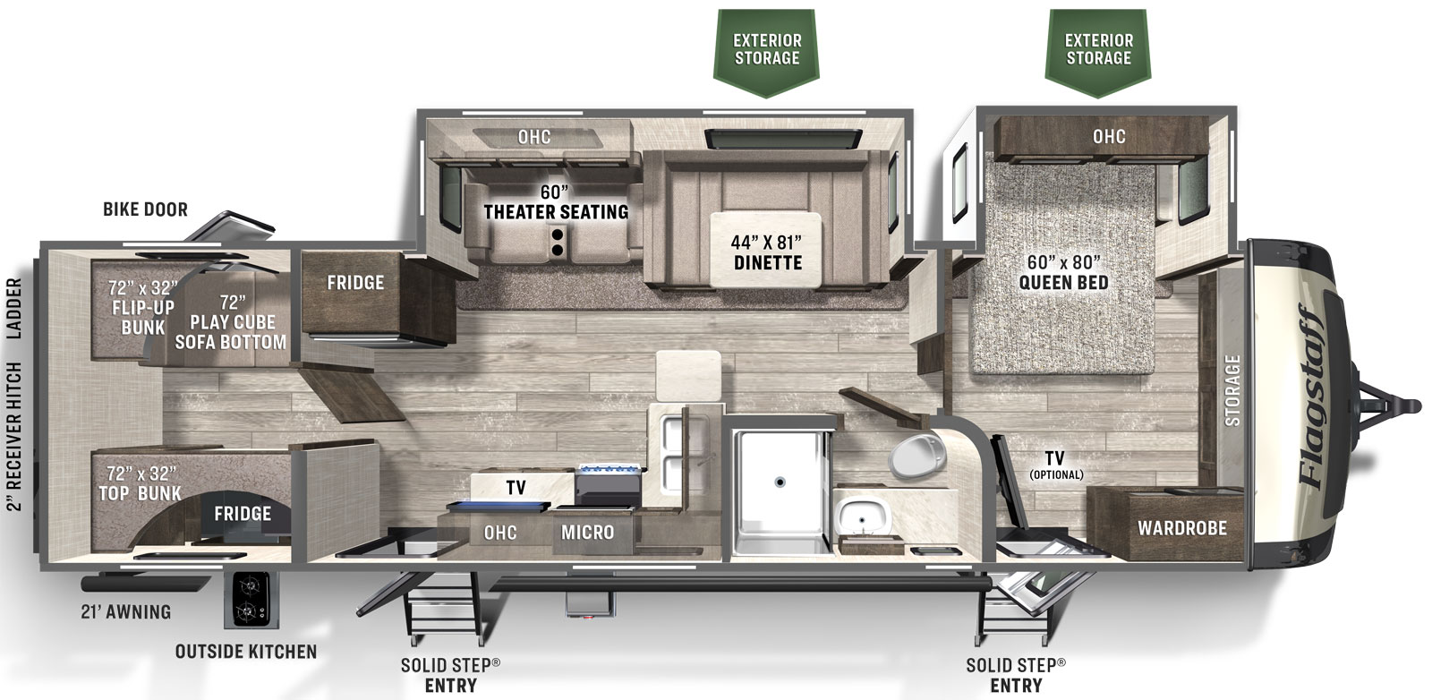 Flagstaff Super Lite 29bhs Forest River Rv Manufacturer Of Travel Trailers Fifth Wheels Tent Campers Motorhomes
