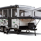 Rockwood High Wall Tent Camper Pop-Up Trailer Exterior (open) May Show Optional Features. Features and Options Subject to Change Without Notice.