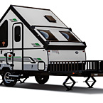 Rockwood Hard Side Camping Pop-Up Trailer Exterior (open) May Show Optional Features. Features and Options Subject to Change Without Notice.