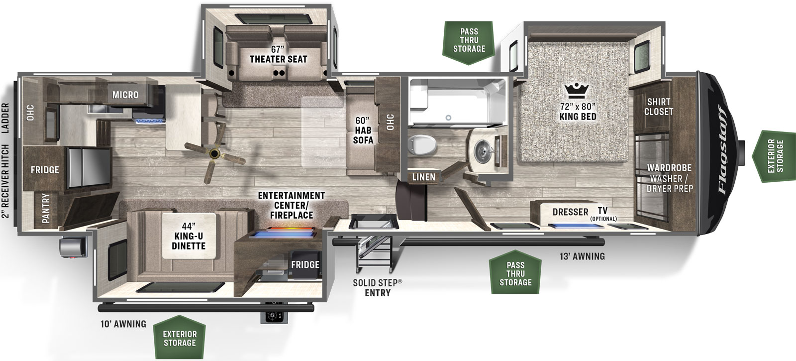 Flagstaff Classic 8529rksb Forest River Rv Manufacturer Of Travel Trailers Fifth Wheels Tent Campers Motorhomes
