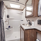 "Premium 48"" shower with seat