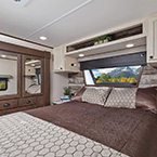Every Nitro master suite offers a spacious wardrobe closet with drawers, dual nightstands