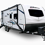 Grand Surveyor Travel Trailer Exterior May Show Optional Features. Features and Options Subject to Change Without Notice.
