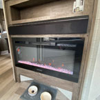"The 30"" electric fireplace also duals as a heater. May Show Optional Features. Features and Options Subject to Change Without Notice."