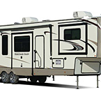 Wildwood Heritage Glen Fifth Wheel Exterior May Show Optional Features. Features and Options Subject to Change Without Notice.