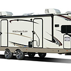 Wildwood Heritage Glen Travel Trailer Exterior May Show Optional Features. Features and Options Subject to Change Without Notice.
