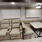 Theater seats and booth dinette May Show Optional Features. Features and Options Subject to Change Without Notice.