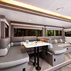 The Versa-Lounge allows for a 8' chaise lounge and great view of the entertainment center. May Show Optional Features. Features and Options Subject to Change Without Notice.