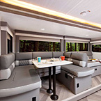 With a quick switch, the Versa-Lounge can be converted back into the traditional dinette and sofa arrangement. May Show Optional Features. Features and Options Subject to Change Without Notice.