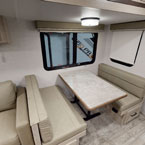 Dinette with storage May Show Optional Features. Features and Options Subject to Change Without Notice.