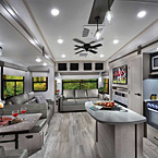 Flagstaff Super Lite Fifth Wheel Interior (528IKRL Shown) May Show Optional Features. Features and Options Subject to Change Without Notice.