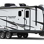 Flagstaff Super Lite Travel Trailer Exterior (Optional White Fiberglass) May Show Optional Features. Features and Options Subject to Change Without Notice.