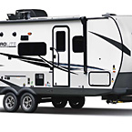 Flagstaff Micro Lite Travel Trailer Exterior (Optional White Fiberglass) May Show Optional Features. Features and Options Subject to Change Without Notice.