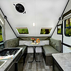 Rockwood Hard Side Camping Pop-Up Trailer Interior May Show Optional Features. Features and Options Subject to Change Without Notice.