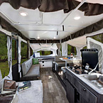 Rockwood Freedom Tent Camper Pop-Up Trailer Interior May Show Optional Features. Features and Options Subject to Change Without Notice.