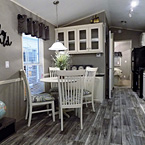 White Cabinets & Gray Plank Flooring May Show Optional Features. Features and Options Subject to Change Without Notice.