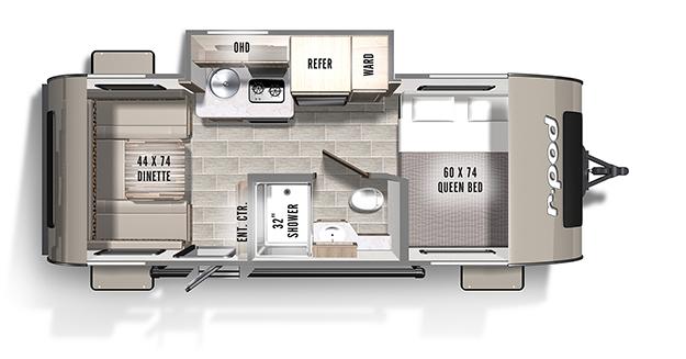 R Pod Camper Floor Plans