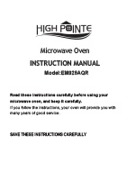 High Pointe EM925AQR Microwave Oven