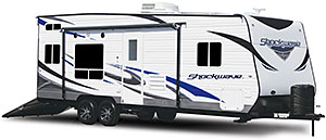 Shockwave Toy Hauler Travel Trailers
