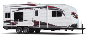 Stealth Toy Hauler Travel Trailers