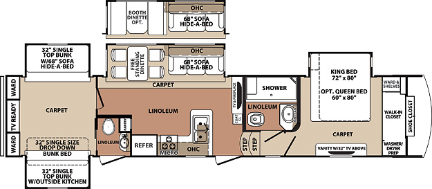 fifth wheel bunkhouse floor plans images 5th wheel with bunkhouse floor plans fifth wheel