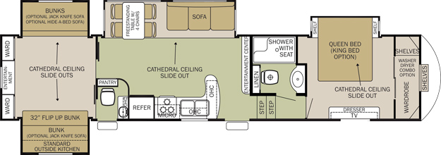 Travel Trailer Floor Plans 2 Bedrooms Online Image Arcade