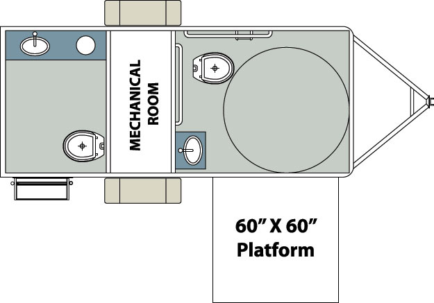 Century series mobile restroom trailers by forest river for Ada restroom floor plans