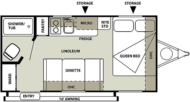 Salem Cruise Lite 185RB Floorplan