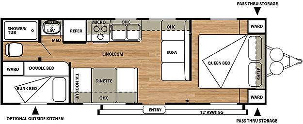 Salem Cruise Lite 261BH Floorplan