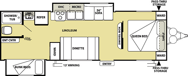 2013 Salem Cruise Lite 271BH Floorplan