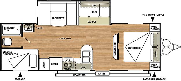 Salem 27DBUD Floorplan