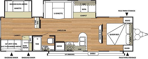 Salem 29QBDS Floorplan