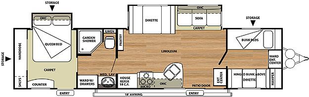 2014 Salem 36BHBS Floorplan