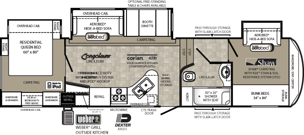 New Floor Plans Page Forest River Forums - Forest river 5th wheel floor plans