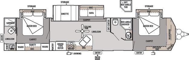 2 Bedroom Rv Floor Plans Car Interior Design