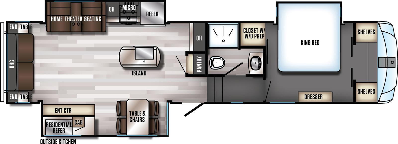 Diagram of Arctic Wolf Suite Floorplan layout